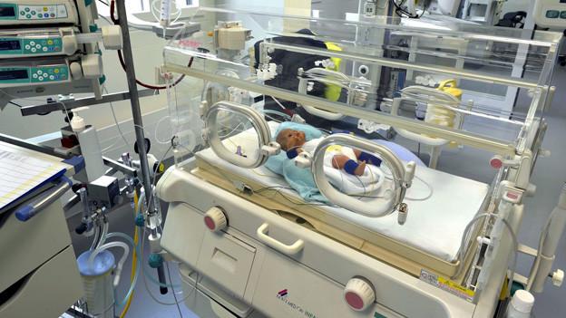 In der neuen Klinik für Neonatologie des Universitätsspitals Zürich.
