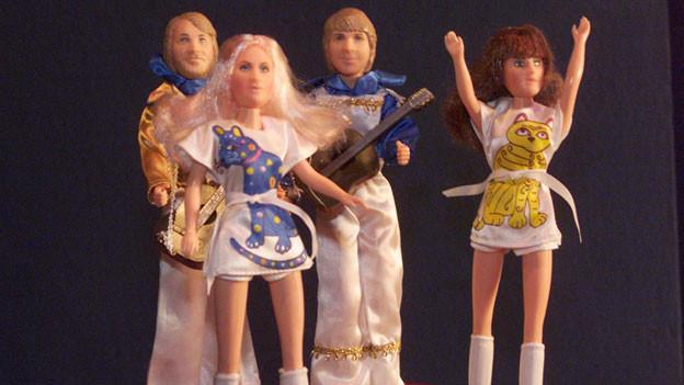 Abba waren so beliebt, dass sogar Puppen von ihnen verkauft wurden.