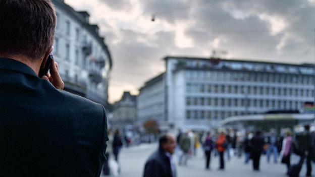 Ein Zentrum im Bankenland Schweiz: Der Paradeplatz in Zürich.