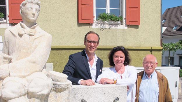 Christian Zeugin mit Pia Hänggi und Leo Stebler.