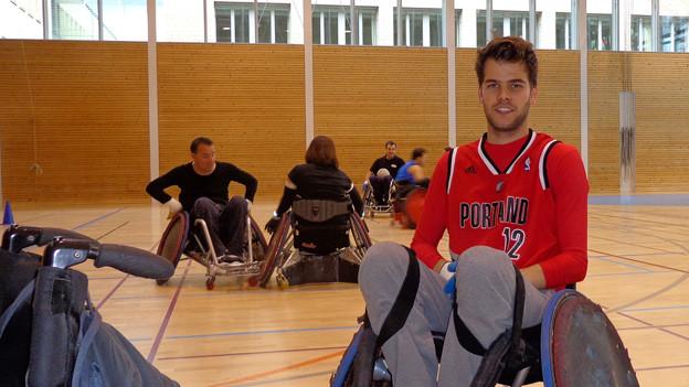 Begeisterung für Rollstuhlrugby: Matthias Lötscher.