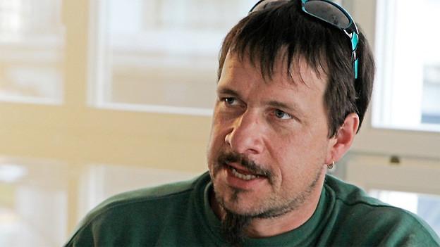Weltmeisterlicher Lastwagenfahrer Roger Steiner.