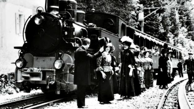 Als die Bahnfahrt von Luzern nach Interlaken noch eine Tagesreise war: Dampfbahn am Brünig.