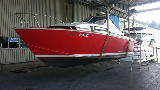 Auch Boote müssen parkiert werden. Der «Treffpunkt» sendet aus einer Bootswerft in Schmerikon.