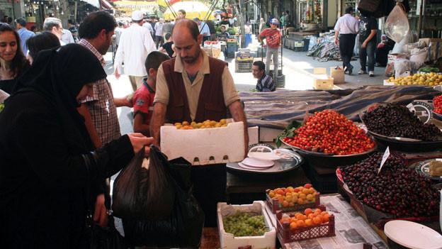 Auf dem Markt in Damaskus, Syrien.