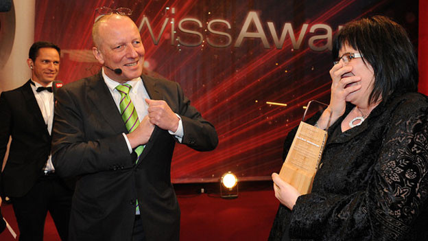 Karin Boss-Röthlisberger bei der Preisverleihung «Heldin des Alltags»