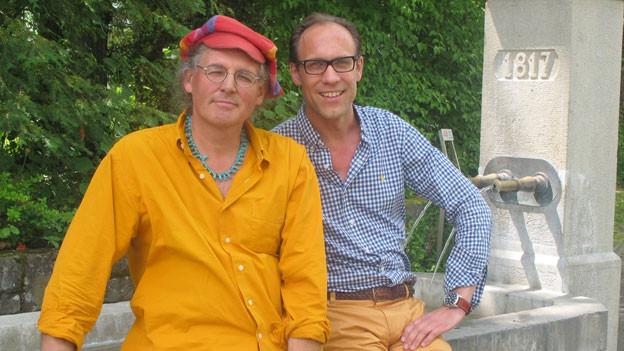 Linard Bardill und Christian Zeugin