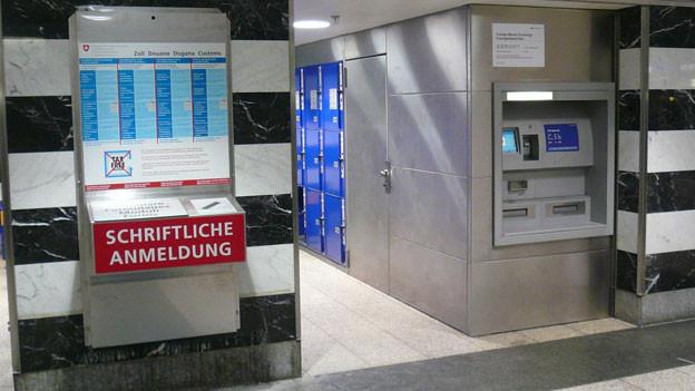 Novum: Selbstanmeldebox im Zürcher Hauptbahnhof.