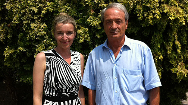 «Persönlich-Gastgeberin Anita Richner mit Franco Cavalli.