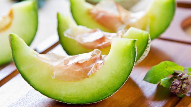 Perfekte Harmonie: Melone mit Prosciutto.