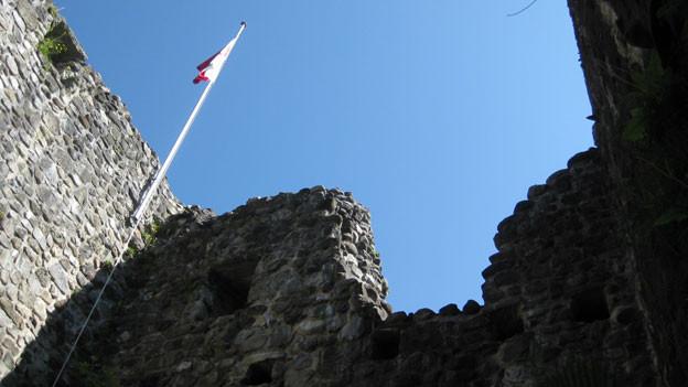 Erhaltene Ruinen in Kradolf.