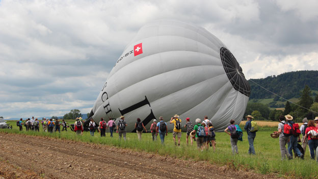 Heissluftballon.