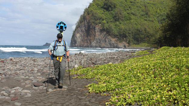 Hawaii virtuell entdecken. So werden die Bilder für Google Street View eingefangen.