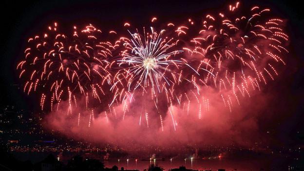 Feuerwerk am Zürifest 2013.