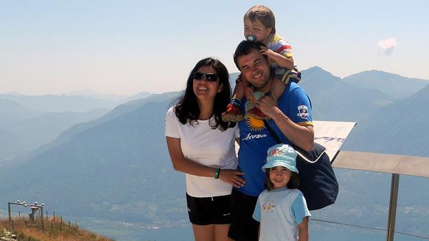 Silvana Wernli mit ihrer Familie in Locarno (2012).