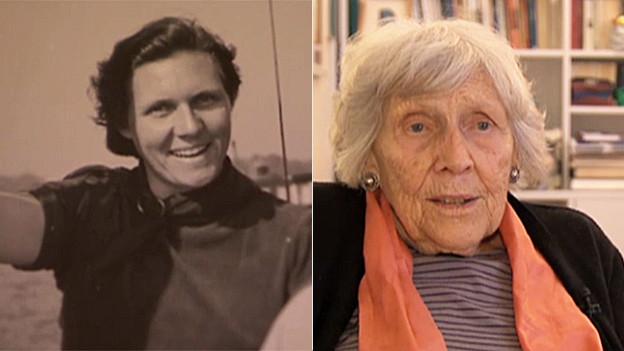 Trude Walther wollte in jungen Jahren (links) nicht heiraten und blieb bis heute als 91jährige Dame ledig. Heute lebt sie in einem Altersheim in Zürich.