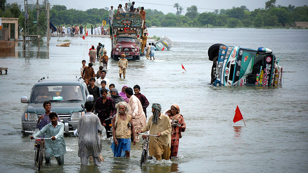 Verheerend: Die Flutkatastrophe in Pakistan im Jahr 2010.