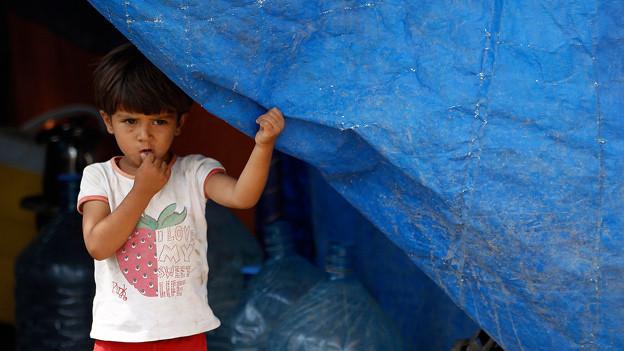 Auf der Flucht: Syrisches Kind in einem Flüchtlingslager in der nordirakischen Provinz Dohuk (21. August 2013).