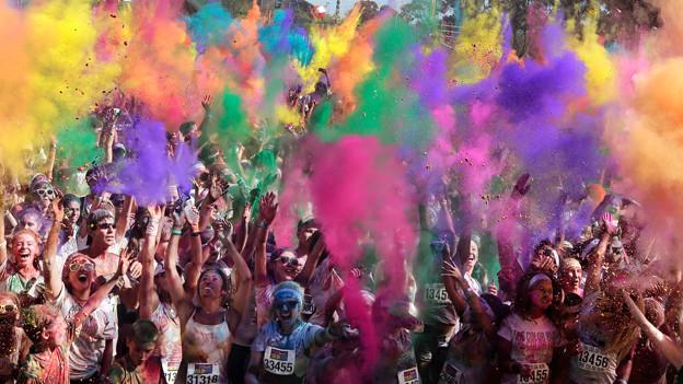 Alles so schön bunt hier! Australier feiern in Sydney den farbenfrohen «Colour Run».