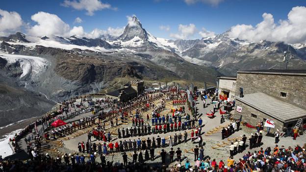 Für Matterhorn, Lonza und Fendant an der Werbefront