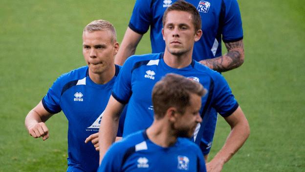 Die Nationalspieler aus Island bringen auch die isländischen Fans in die Schweiz.