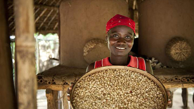 Freude über die Ernte, die im Getreidespeicher gelagert und so vor Ungeziefer geschützt wird.