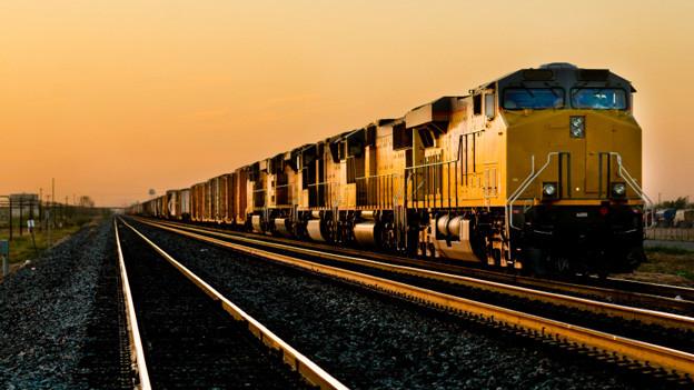 Amerikanischer Güterzug.