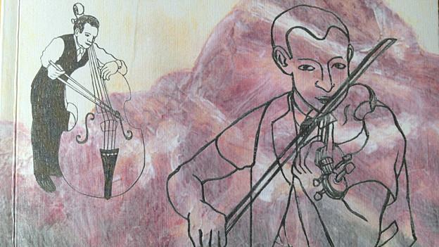 Auschnitt aus Buch-Cover «Schweizer Volksmusik» von Dieter Ringli