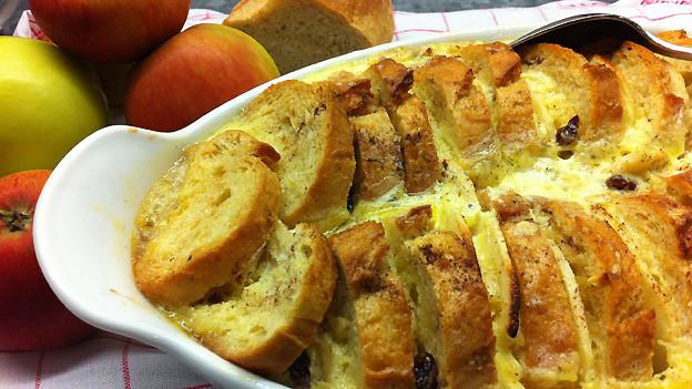 «Bread and Butter»-Pudding: Sieht nicht nur lecker aus, schmeckt auch so.