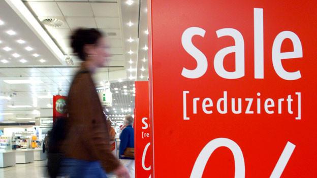 Der Ausverkauf bei uns: «Sale».