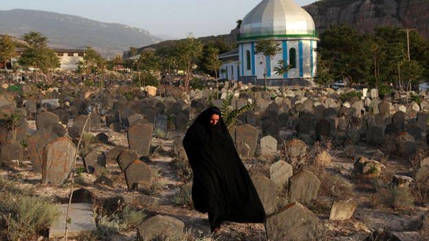 Die Grabstätte Sefid Chah im Norden Irans.