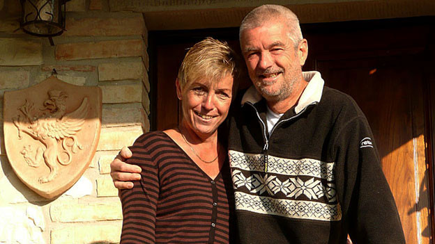 Ilona und Rolf Weber in ihrem Reich in Anghiari.