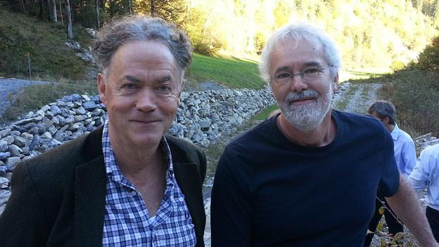 Klären die Situation vor Ort: Josef Reinhardt (links) und Christian Gut.