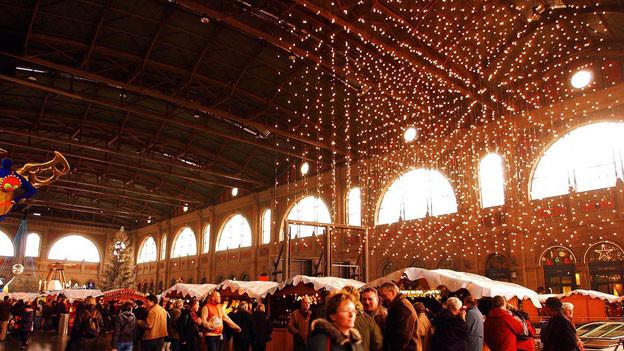 Der «Christkindlimarkt» im Zürcher Hauptbahnhof.
