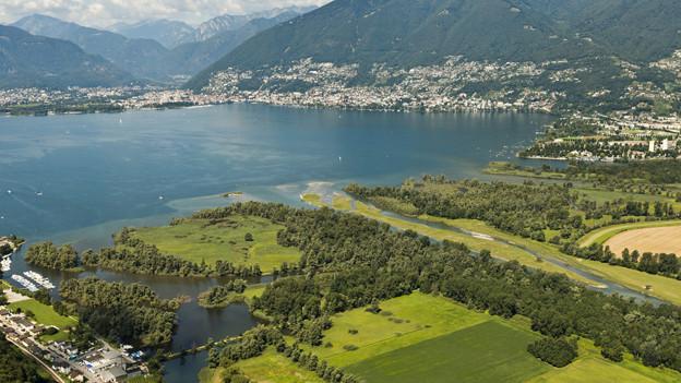 Magadino Naturschutzgebiet und städtische Aggolmeration - Kontraste im Tessin