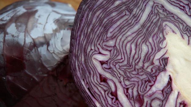 Rotkohl lässt sich auch zu Salat oder Suppe verarbeiten.