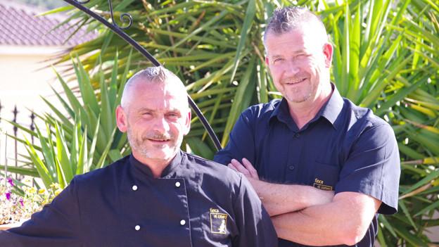 Thomy Schallenberger (rechts) mit seinem Partner Jean-Philippe (l.).