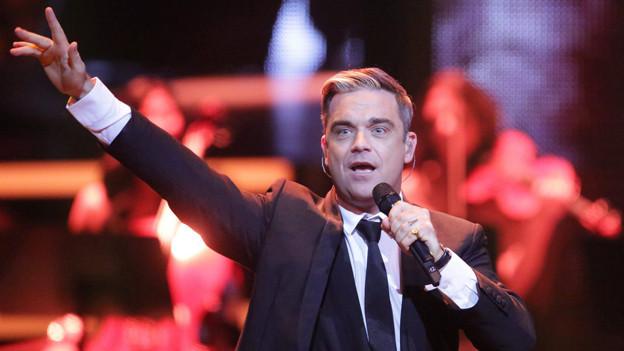 Zwei Personen kommen dank Radio SRF 1 in den Genuss, Robbie Williams im Juni 2014 live zu erleben.
