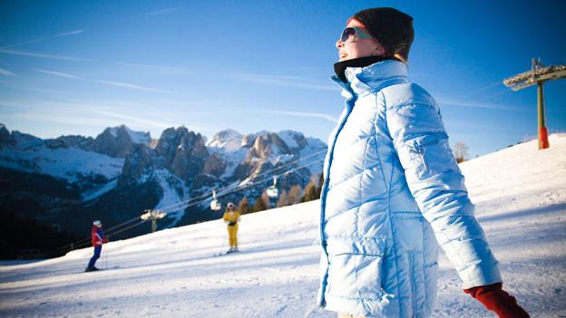 Sonne tanken ist besonders im Winter wichtig.