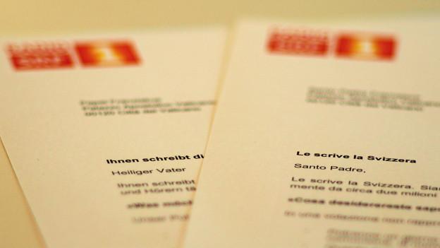 Am Ziel: Unser Brief an den Papst hat den Vatikan erreicht.