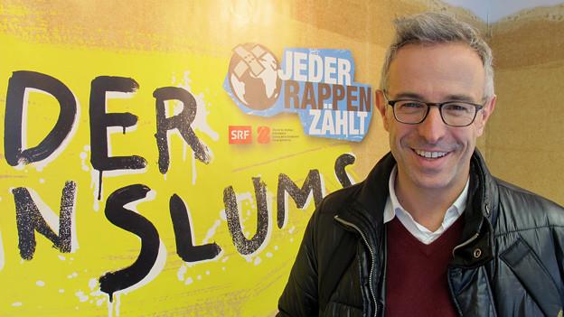 «Treffpunkt»-Moderator Dani Fohrler besucht die Macherinnen und Macher von «Jeder Rappen zählt».
