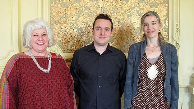 Anita Richner (rechts) mit Cornelia Minder und Marc Baumeler.