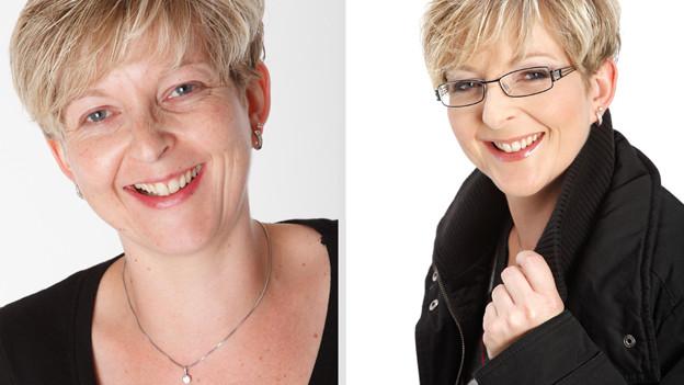 Professionelles Make-Up wirkt auf Fotos.