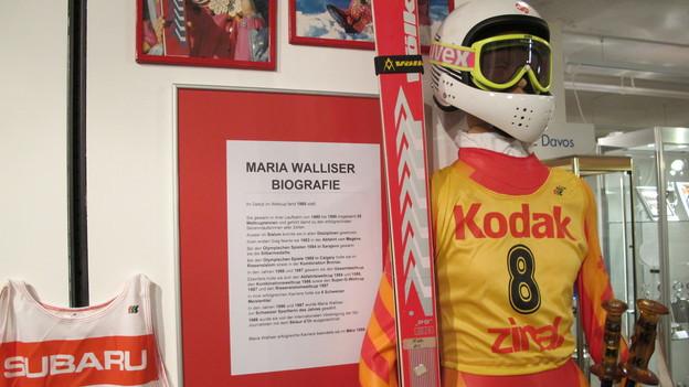 Im Museum sind Originalstücke aus der Sammlung der Ex-Skirennfahrerin ausgestellt.