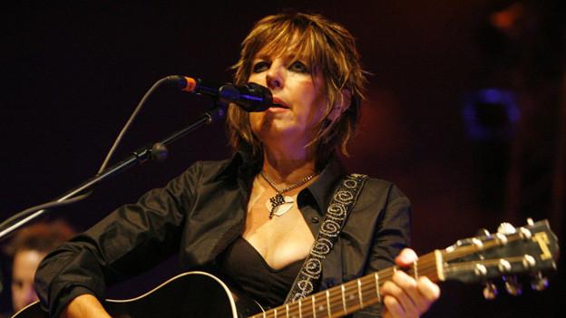 Lucinda Williams 2009 auf der Bühne des «Blue Balls Festival» in Luzern.