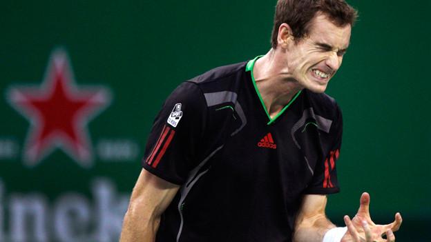Zum Haare raufen: Der britische Tennisspieler Andy Murray beim Shaghai Masters (2011).