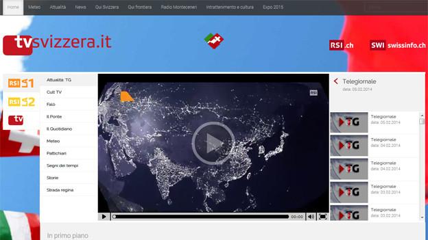 Online-Plattform «tvsvizzera.it».