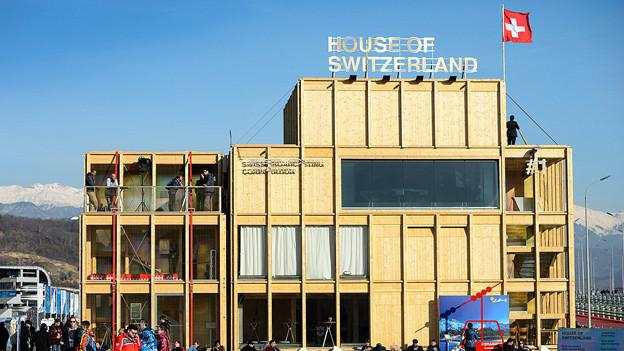 Das House of Switzerland im Olympischen Park von Sotschi.