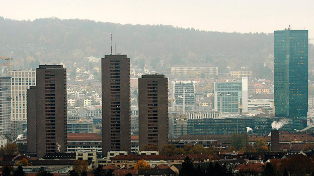 Hochhäuser in Zürich West.