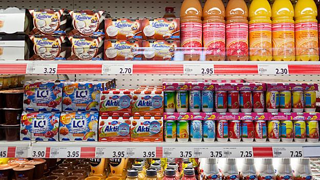 Verschiedene «Functional Food»-Produkte in einem Laden.